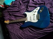 Blue strat body electric guitar in Glendale Heights, Illinois