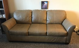 Beige Leather Couch and Love Seat in Lockport, Illinois