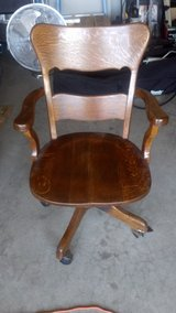solid oak chair. in Vacaville, California