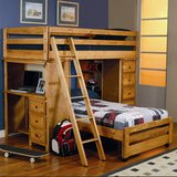 Wood bunk bed with desk/dresser in Clarksville, Tennessee