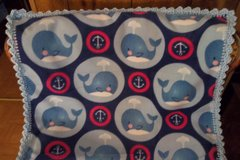 Whales Baby Fleece Blanket Crib Size in St. Louis, Missouri