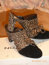 Animal print beautiful high heel slide on shoes  8M in Fort Bragg, North Carolina