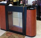 Reception Front Desk with Display Cabinet in Gainesville, Georgia
