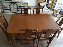 Vintage Dining Room Table with 3 Leaves in DeKalb, Illinois