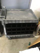 Heavy Duty utility cart with storage bins in Glendale Heights, Illinois