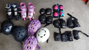 Skates and helmets in Tinley Park, Illinois