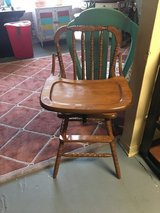 Wood high chair great shape perfect for photo shots in Cleveland, Texas