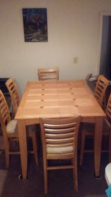 Dining room table 6 chairs make offer begining at $75.00 MUST SALE FAST in Warner Robins, Georgia