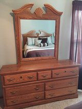 Queen Headboard Dresser Mirror in Lockport, Illinois