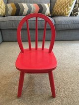 Red chair for children in Bolling AFB, DC