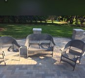 Grey Wicker Couch and Chairs in Lockport, Illinois