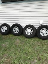 6 lug chevy tires and wheels (tires like new) in Moody AFB, Georgia