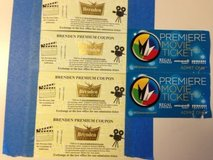 4 Tickets to V.V. BRENDAN THEATRE & 2 Tix to FF CINEMA in Travis AFB, California