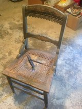 Carved Wood Chair, Cane Seat in Macon, Georgia