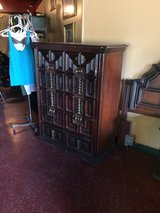 Tall Wood Vintage Chest Of Drawers Dresser in Fort Polk, Louisiana