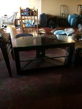 Black and Glass Entertainment TV Stand in Fort Polk, Louisiana