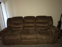 Like new reclining sofa with matching love seat in Fort Lewis, Washington