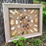 Large Arrowhead Shadowbox Frame 45 Authentic Arrowheads/Artifacts in Beaufort, South Carolina
