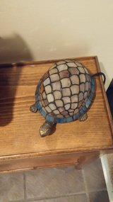 Turtle stained glass table lamp in Lockport, Illinois