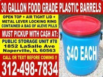 Rain Water Barrel, Plastic Barrels, and Storage Drum/ Drums in Bartlett, Illinois