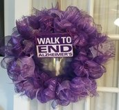 ALZ  wreath in Lawton, Oklahoma