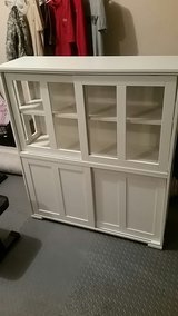 partical board white cabinet with glass in Fort Leonard Wood, Missouri