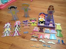Melissa and Doug Magnetic dress up dolls in Lockport, Illinois