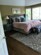 Z gallerie tufted bed in Glendale Heights, Illinois