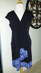 Black Dress with Purple Pattern Trim in Glendale Heights, Illinois