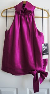 BLOUSE OR TOP, MAGENTA, BIG BOW, NWT in Lakenheath, UK