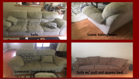 Sofa/Love Seat & Sofa w/ pull out queen bed in Leesville, Louisiana
