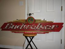 VINTAGE 1998 FALLON LARGE BUDWEISER ELECTRIC NEON SIGN in Travis AFB, California