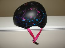 "CHILDS BICYCLE ""MONGOOSE"" HELMET BLACK PINK BUTTERFLIES in Camp Lejeune, North Carolina"