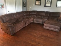 Large Brown Sectional - Double Recliner and Lounge in Fort Campbell, Kentucky
