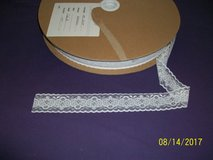 brand new rolls of washable white lace trim--about 185 yds per roll in Goldsboro, North Carolina