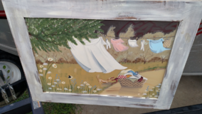 Window painting in Fort Riley, Kansas