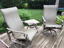 : ) Patio Furniture Bistro Set :  2 Swivel Chairs & Small Table >>> in Batavia, Illinois