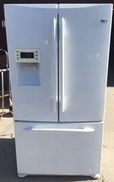 Ge profile white french door refrigerator in Camp Pendleton, California