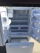 Ge profile white french door refrigerator. in Camp Pendleton, California
