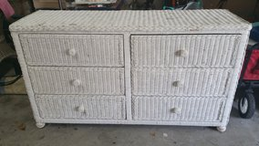 White rattan dresser in Baytown, Texas