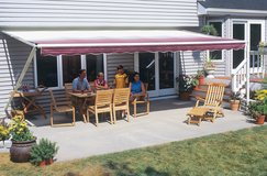12x12 Awning for house with screen house in Naperville, Illinois