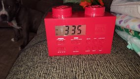 Lego alarm clock radio red in Aurora, Illinois