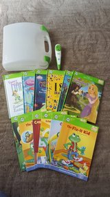 leap frog tag reader 12 books and case in Batavia, Illinois