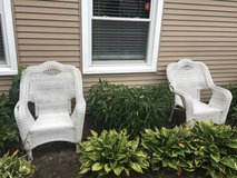 White Whicker Chairs in Sugar Grove, Illinois