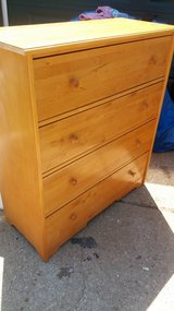 """Solid wood 4 drawer chest 39x17"""" 44"""" tall in Fort Riley, Kansas"""