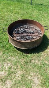 Exlarge fire pit in Fort Riley, Kansas