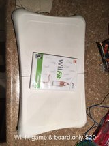 Wii fit board and game in Morris, Illinois