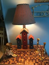 Very cute bird house lamp in Conroe, Texas