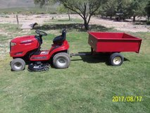 "Troy Bilt Bronco 42"" 19HP Riding Lawn Mower with Huskee Trailer in Alamogordo, New Mexico"