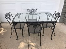 Black Iron Patio Table in Batavia, Illinois